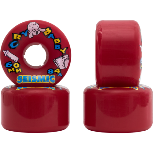 60mm Seismic Cry Baby Longboard Skateboard Wheels