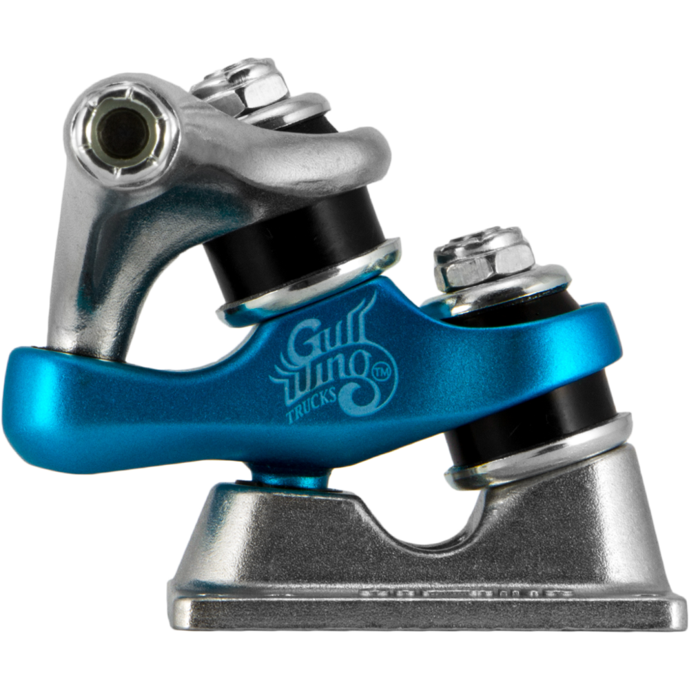 187mm Gullwing 10 Quot Sidewinder Ii Raw Blue Raw Longboard
