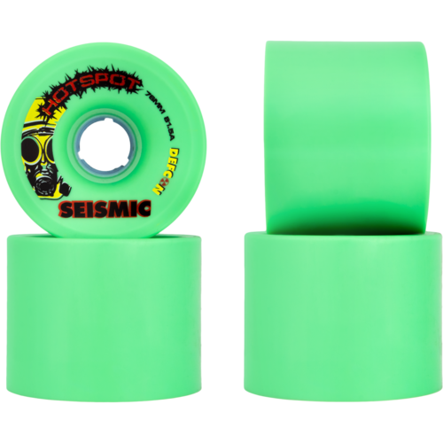 76mm Seismic Hot Spot Defcon Longboard Skateboard Wheels