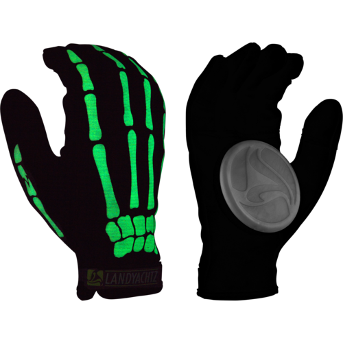 Landyachtz Bones Glow in the Dark  Hands Slide Gloves + Palm Pucks