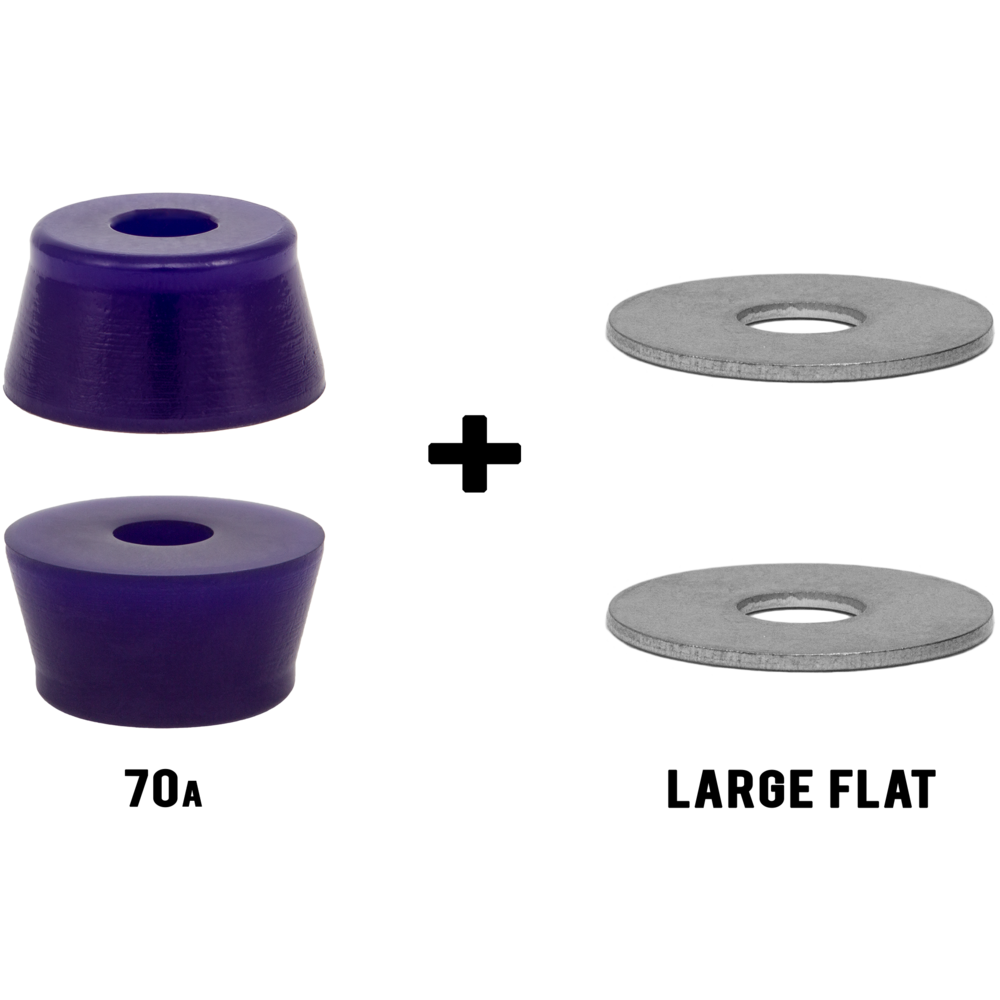 Large Washers Riptide Aps Fat Cone Longboard Skateboard Bushings Pack With