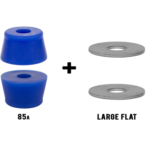 Riptide APS **TALL FAT CONE** Longboard Skateboard Bushings Pack with Washers