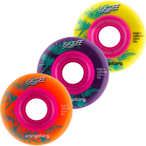 62mm Orangatang Skiff - Freeride Longboard Skateboard Wheels