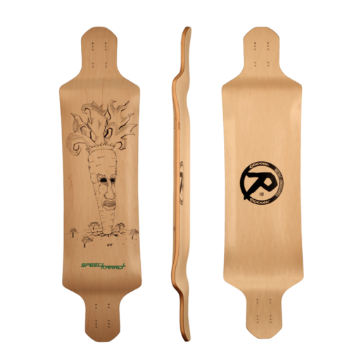 Rotule Speed Karrot Longboard Skateboard Custom Complete
