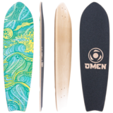 Omen Waiving the Bird 34 Longboard Skateboard Custom Complete