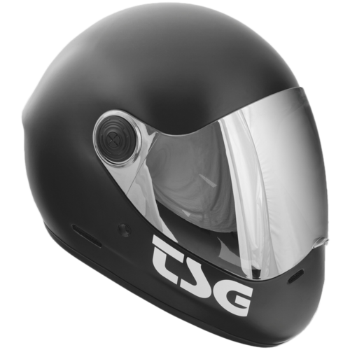 TSG Pass MATTE Black Full Face Downhill Longboard Skateboard Helmet