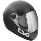 TSG Pass Full Face Helmet -MATTE BLACK Plus bonus clear visor