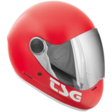 TSG Pass Satin Fire Red Full Face Downhill Longboard Skateboard Helmet