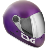 TSG Pass Satin Purple Full Face Downhill Longboard Skateboard Helmet