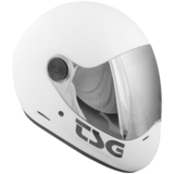 TSG Pass Satin White Full Face Downhill Longboard Skateboard Helmet