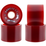 70mm ABEC 11 Classic 'Thane Retro Red Zig Zag Longboard Skateboard Wheels