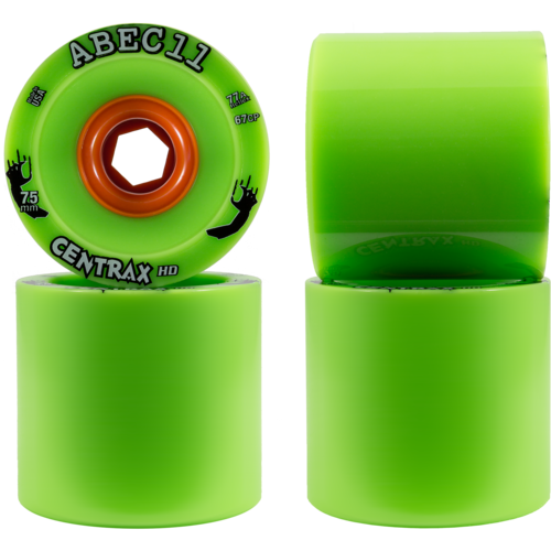 75mm ABEC 11 Reflex 'Thane Centrax HD Longboard Skateboard Wheels