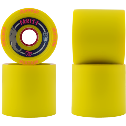 72mm Remember Farley Longboard Skateboard Wheel
