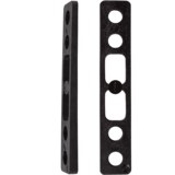 Khiro 1° Angled Wedge Rail Risers