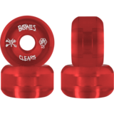 60mm Bones Clear Red - SPF - Skateboard Wheels