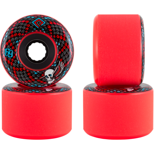 69mm Powell Peralta Snakes Stoneground Longboard Skateboard Wheels