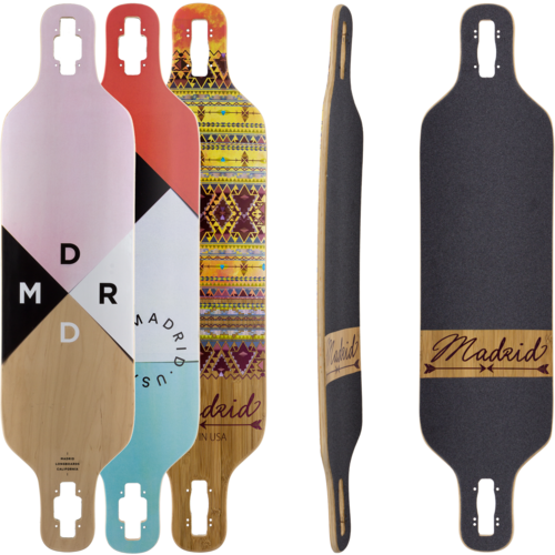 Madrid Dream 39 Longboard Skateboard Deck w/ Grip