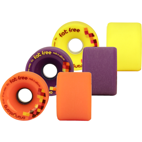 65mm Orangatang Fat Free - Freeride Longboard Skateboard Wheels
