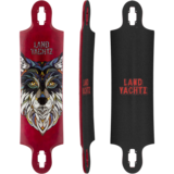 Landyachtz Ten two Four Wolf Longboard Skateboard Deck w/ Grip