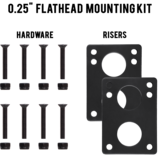"MuirSkate Beasto 0.25"" Top Mount Flathead Hardware Mounting Kit"