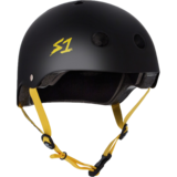 S-One Lifer Helmet - Matte Black w/ Yellow Straps