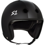 S-One Retro Lifer Helmet - Black Matte w/ Black Stripe
