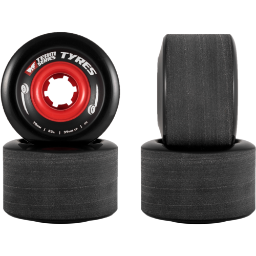 70mm MuirSkate Team Series Tyres Freeride Longboard Skateboard Wheels
