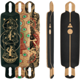 Pantheon 8 Ply Ember Longboard Skateboard Deck w/ Grip