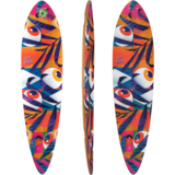 2018 Landyachtz Bamboo Chief Eyes Longboard Skateboard Deck w/ Grip