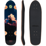 2018 Landyachtz Dinghy Burning Sky Mini Longboard Skateboard Deck w/ Grip