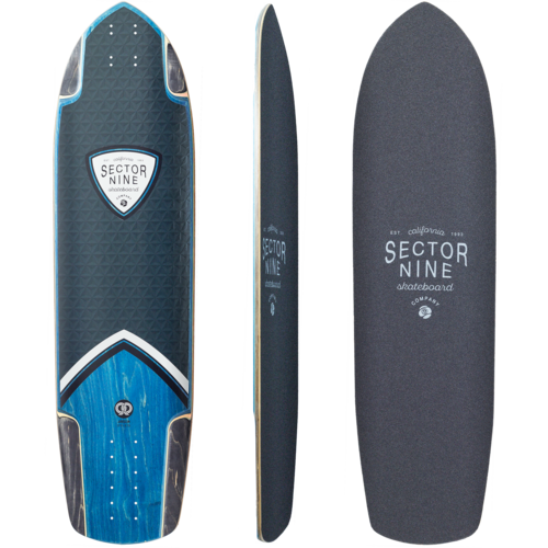 Sector 9 Peak Javelin Longboard Skateboard Deck w/ Grip