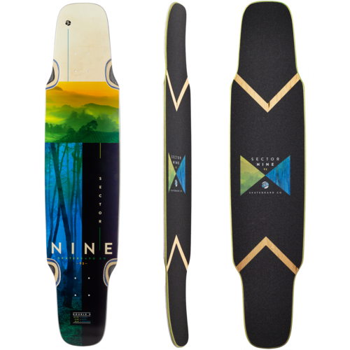 Sector 9 Offset Double Cross Longboard Skateboard Deck w/ Grip