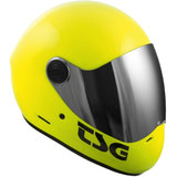 TSG Pass Satin Yellow Full Face Downhill Longboard Skateboard Helmet