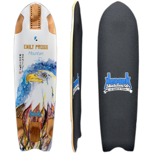 Kebbek Emily Pross Mountain Longboard Skateboard Deck w / Grip