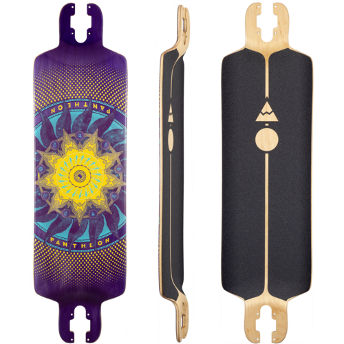 Pantheon 2018 7 Ply Trip Purple Longboard Skateboard Custom Complete