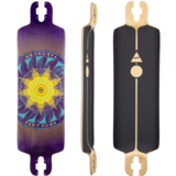 Pantheon  7 Ply Trip Purple Longboard Skateboard Deck w/ Grip