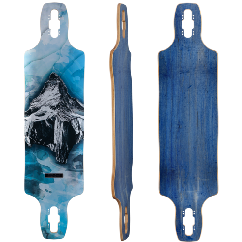 "DB Longboards Paradigm Mountains 38"" Longboard Skateboard Deck w/ Grip"