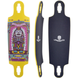 "Landyachtz Drop Cat iIlumination 33"" Longboard Skateboard Deck w / Grip"