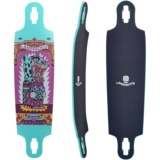 "Landyachtz Drop Cat iIlumination 38"" Longboard Skateboard Deck w / Grip"