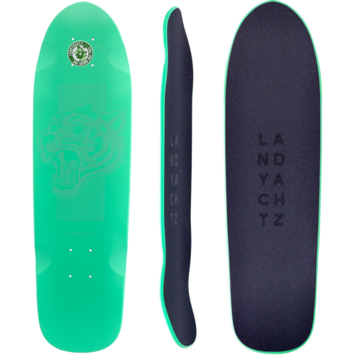 Landyachtz 2019 Dinghy Green Tiger Mini Longboard Skateboard Deck w /Grip
