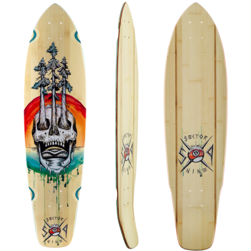 2019 Sector 9 Danger Fort Point Longboard Skateboard Deck w / Grip