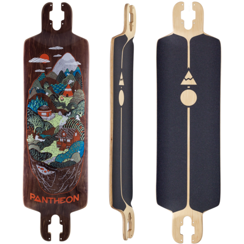 Pantheon 2018 9 Ply Trip Longboard Skateboard Deck w/ Grip