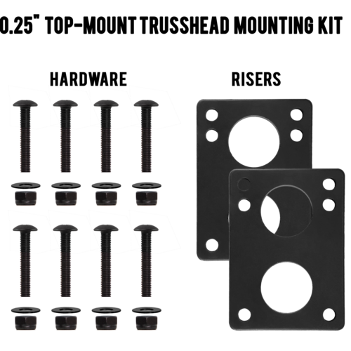 "MuirSkate Beasto 0.25"" Top Mount Trusshead Hardware Mounting Kit"