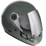 TSG Pass Gloss Marsh Gray Full Face Downhill Longboard Skateboard Helmet
