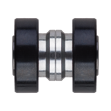 Seismic Tekton 7-Ball XT Steel Built-In Longboard Skateboard Bearings
