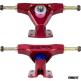 120mm Bear Precision 2020 Smokies Red Downhill Longboard Skateboard Trucks With 45°/20° baseplates