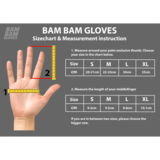 Bam Bam Pro Leather Slide Gloves - Black/Red W/ No Pucks