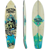 Sector 9 Fortune Fort Point Longboard Skateboard Deck w / Grip