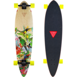 Landyachtz Totem Paradise Longboard Skateboard Pre-assemble with Yellow Fatty Hawgs