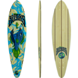 Sector 9 Bamboo Angler Swift Pintail Skateboard Deck W/Grip